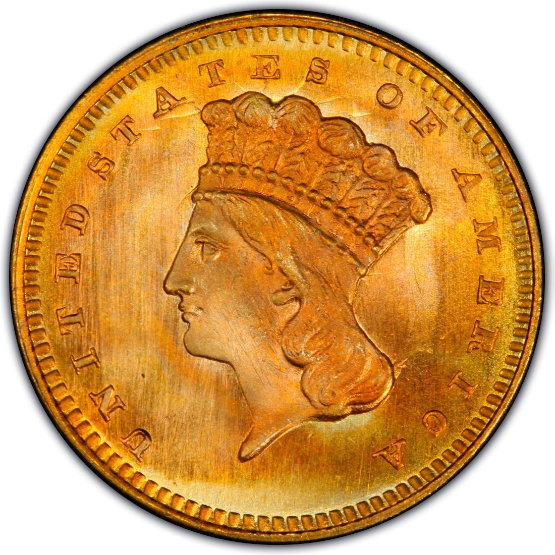 1864 Large Head Indian Princess Gold Dollar Values And