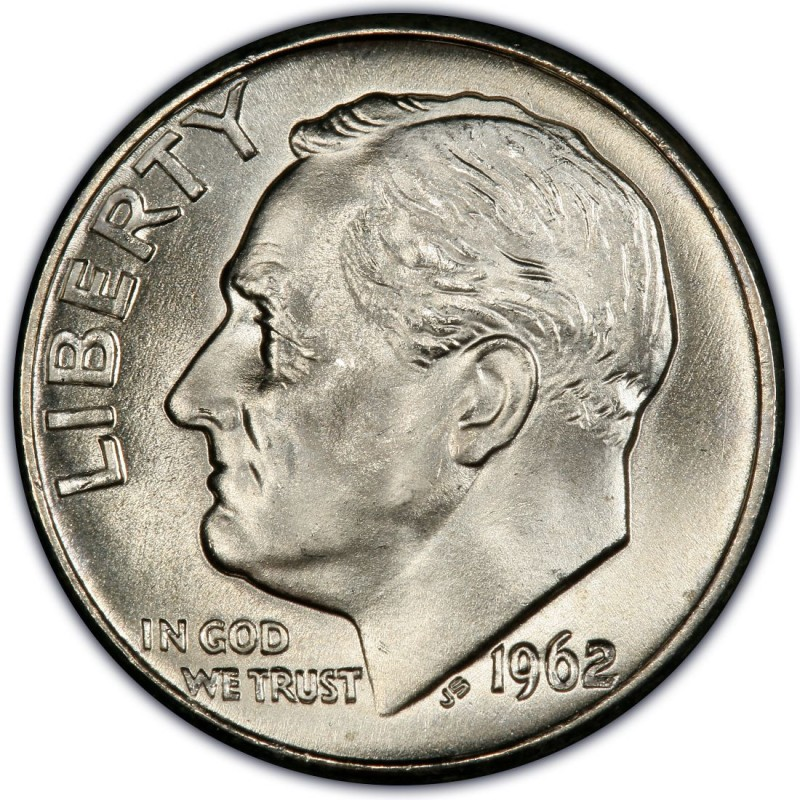 1962 Roosevelt Dime Values And Prices Past Sales