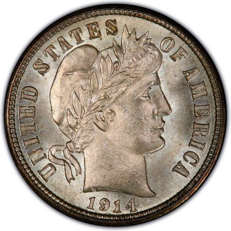 1914 Barber Dime Values And Prices Past Sales