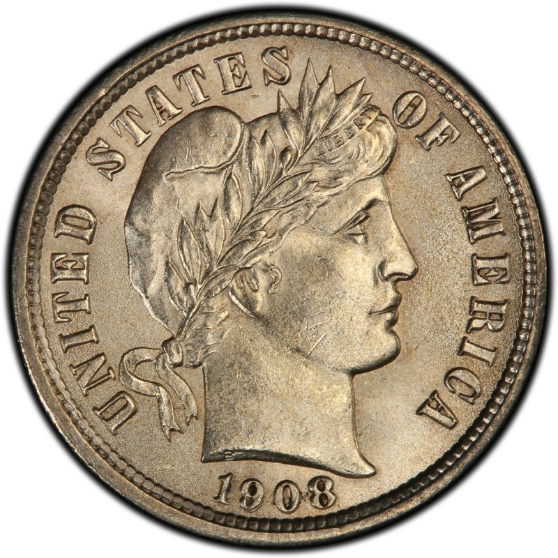 1908 Barber Dime Values And Prices Past Sales