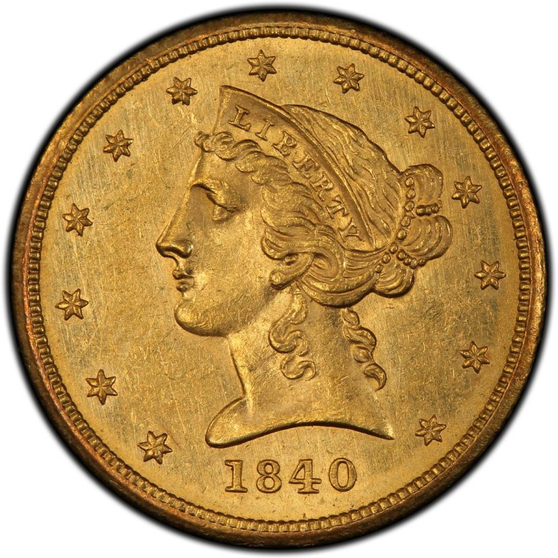 1840 Liberty Head Half Eagles Values And Prices Past