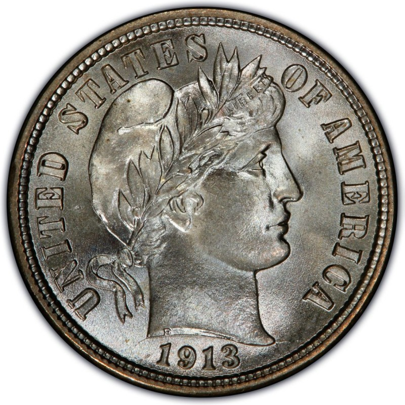 1913 Barber Dime Values And Prices Past Sales