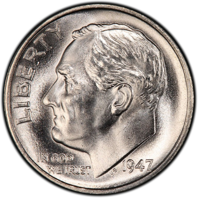 1947 Roosevelt Dime Values And Prices Past Sales