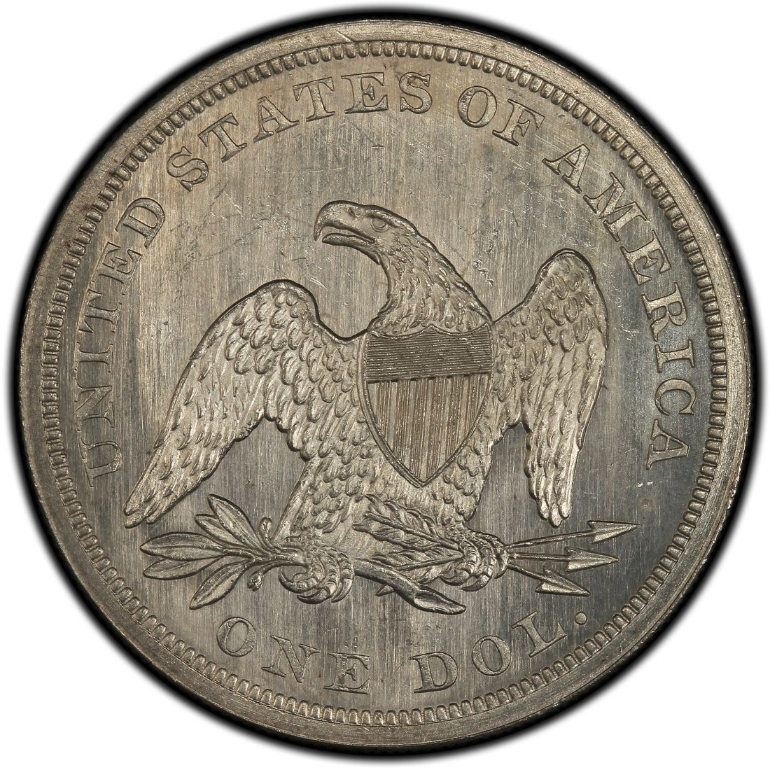 1862 Seated Liberty Silver Dollar Values And Prices Past