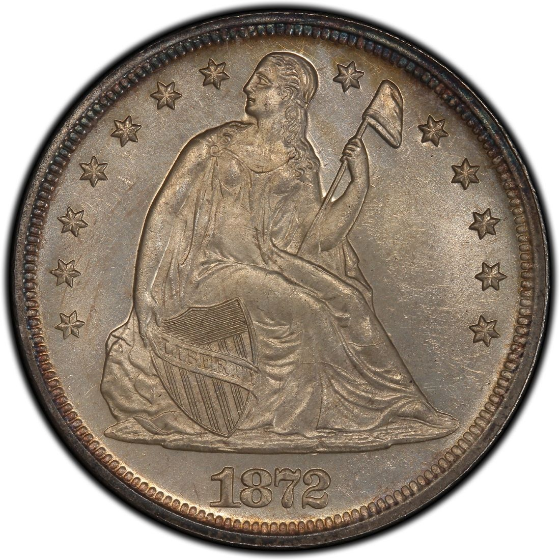 1872 Seated Liberty Silver Dollar Values And Prices Past