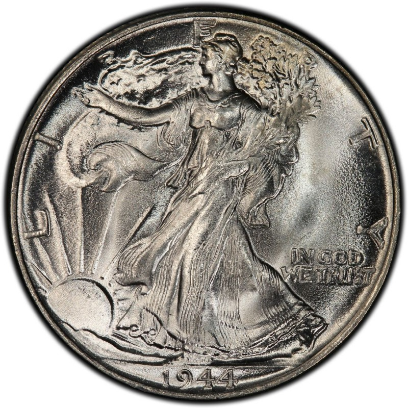 1944 Walking Liberty Half Dollar Values And Prices Past