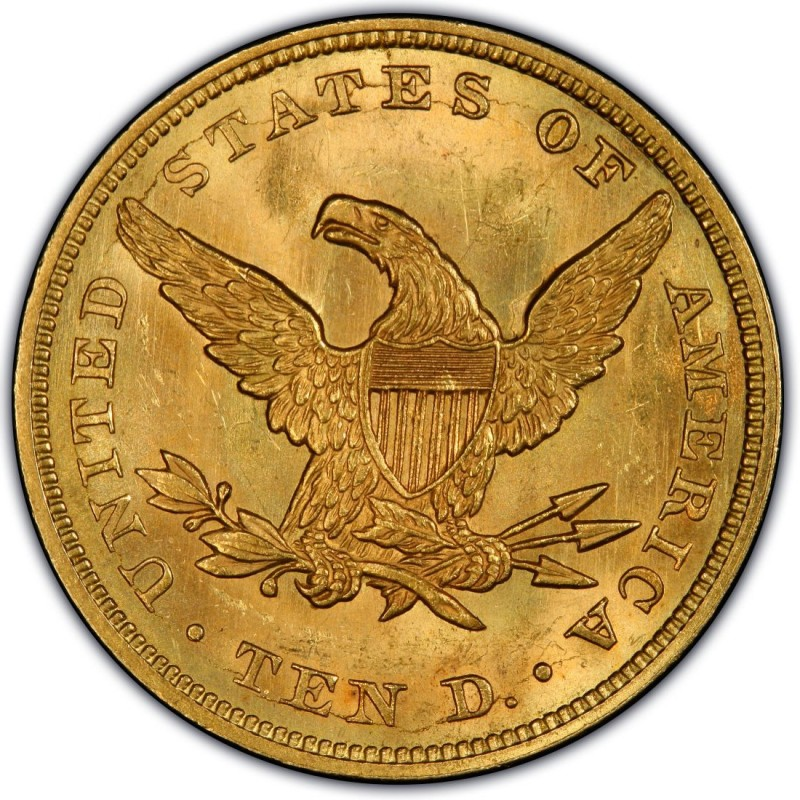 1861 Liberty Head 10 Gold Eagle Values And Prices Past