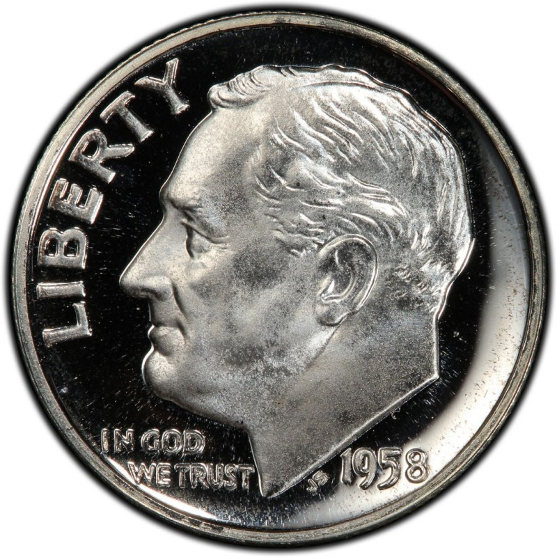 1958 Roosevelt Dime Values And Prices Past Sales