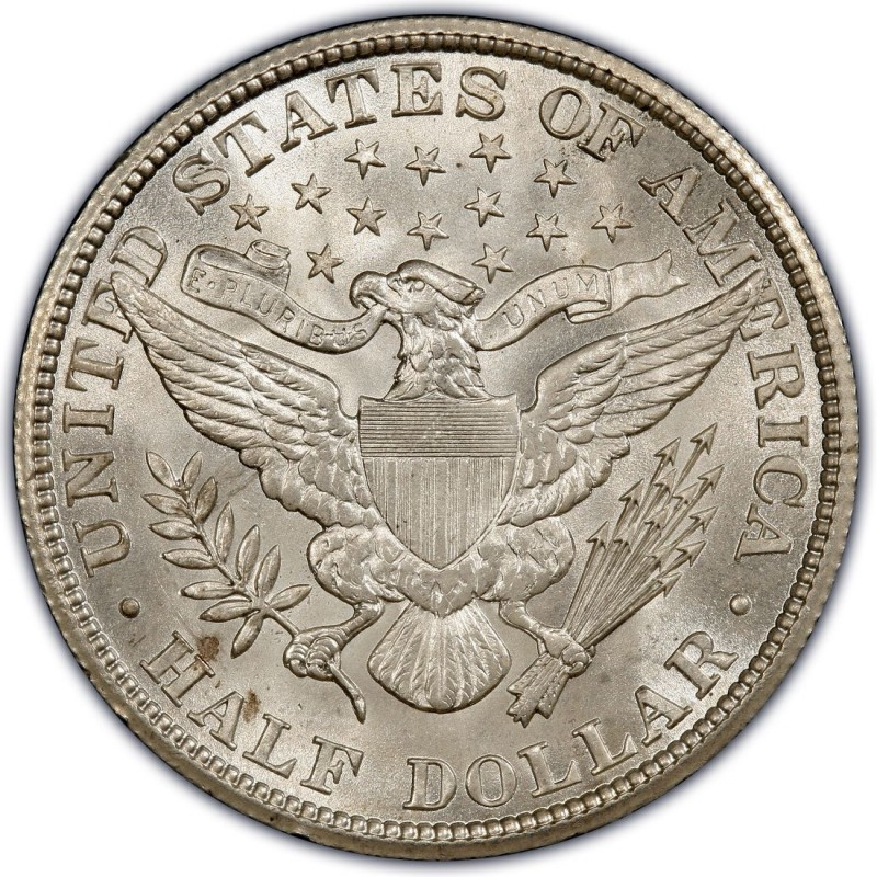 1907 Barber Half Dollar Values and Prices - Past Sales