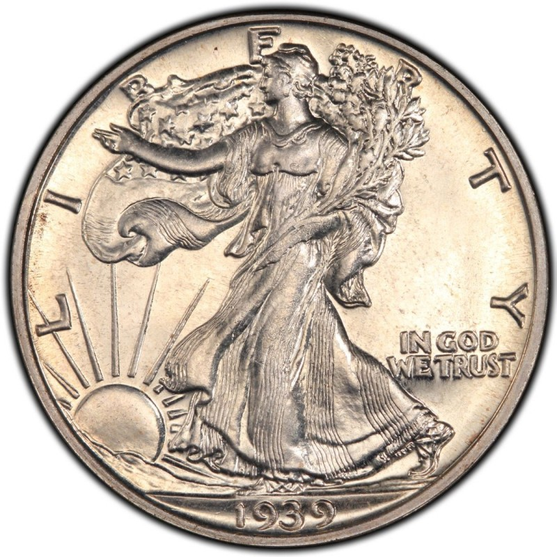 1939 Walking Liberty Half Dollar Values and Prices - Past