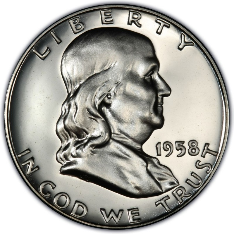1958 Franklin Half Dollar Values And Prices Past Sales