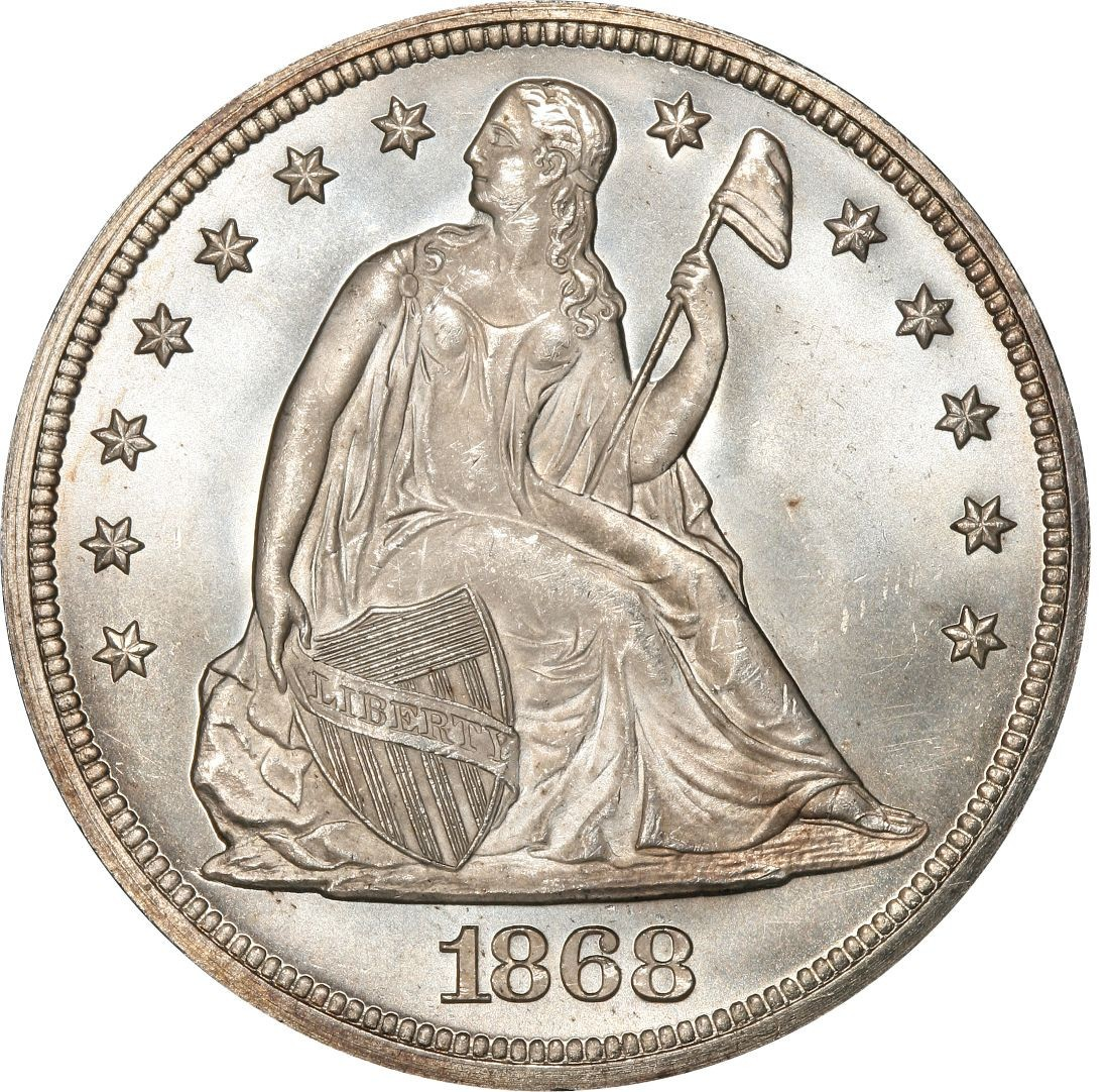 1868 Seated Liberty Silver Dollar Values And Prices Past