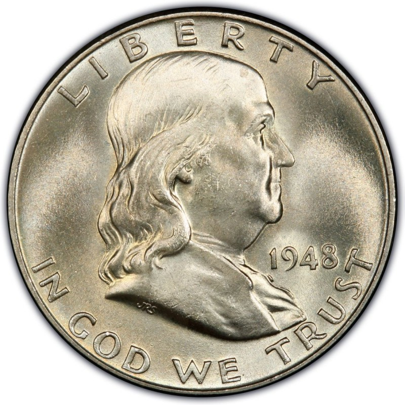 1948 Franklin Half Dollar Values And Prices Past Sales