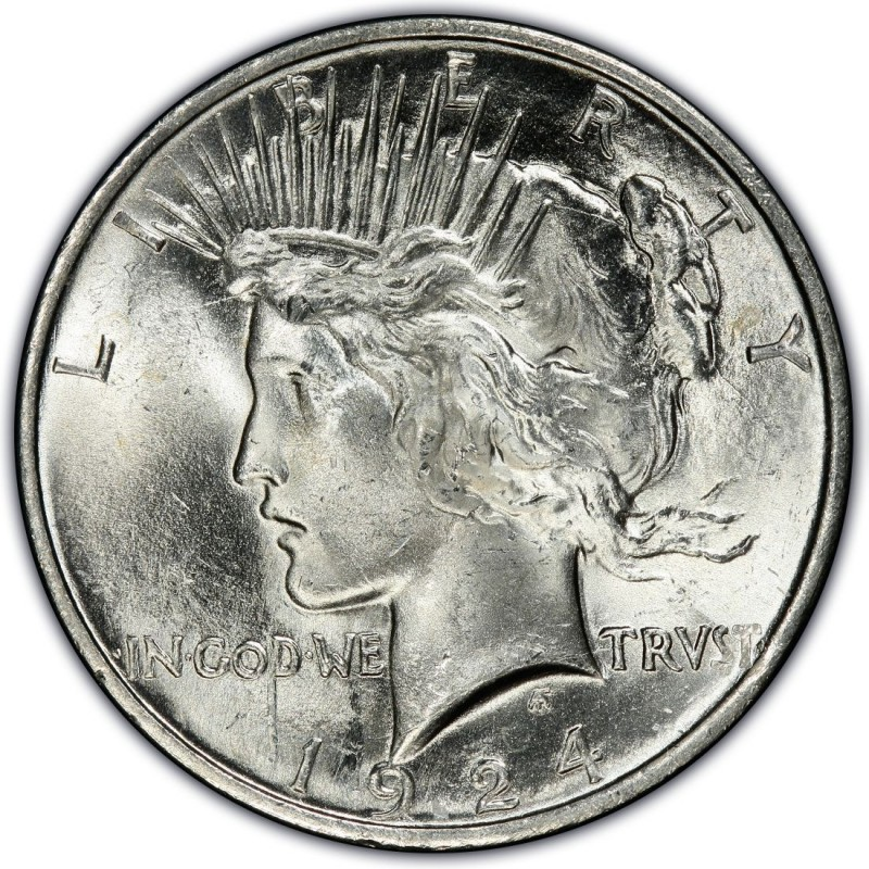 1924 Peace Dollar Values And Prices Past Sales