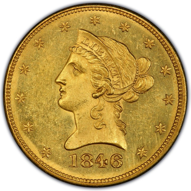 1846 Liberty Head 10 Gold Eagle Values And Prices Past