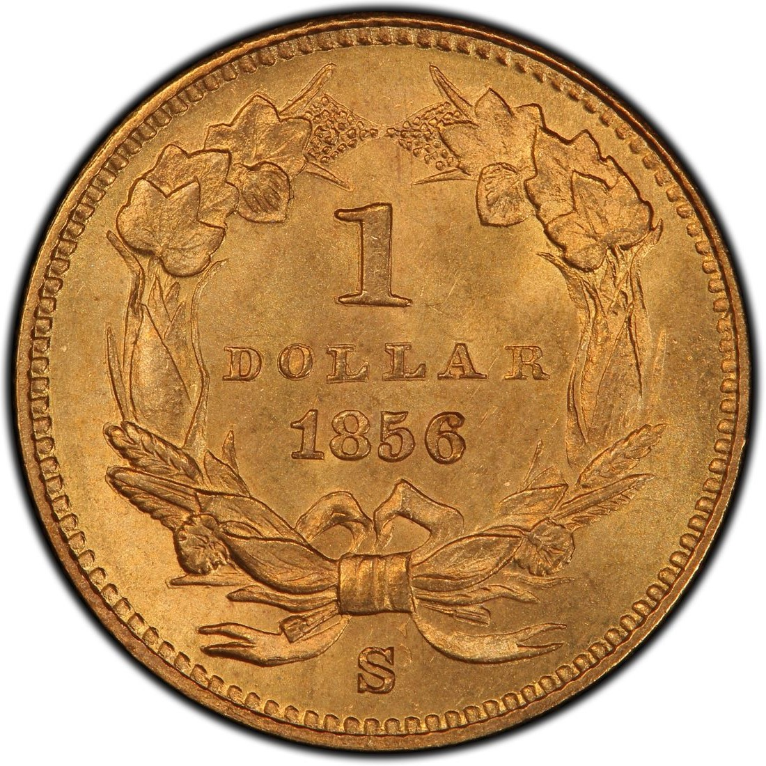 1856 Small Head Indian Princess Gold Dollar Values and ...