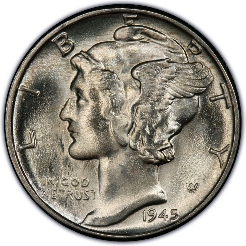 1945 Mercury Dime Values And Prices Past Sales
