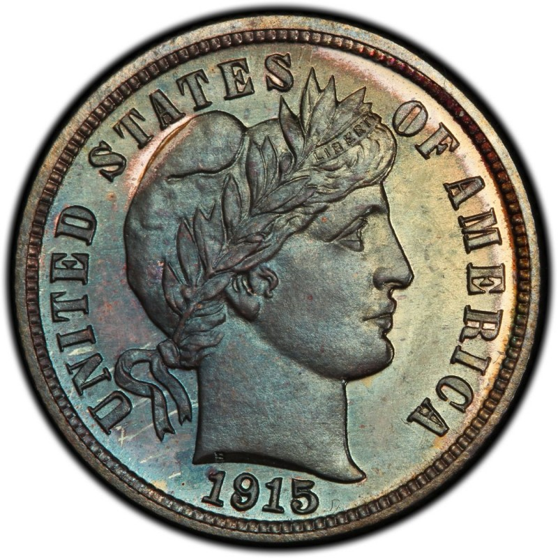 1915 Barber Dime Values And Prices Past Sales