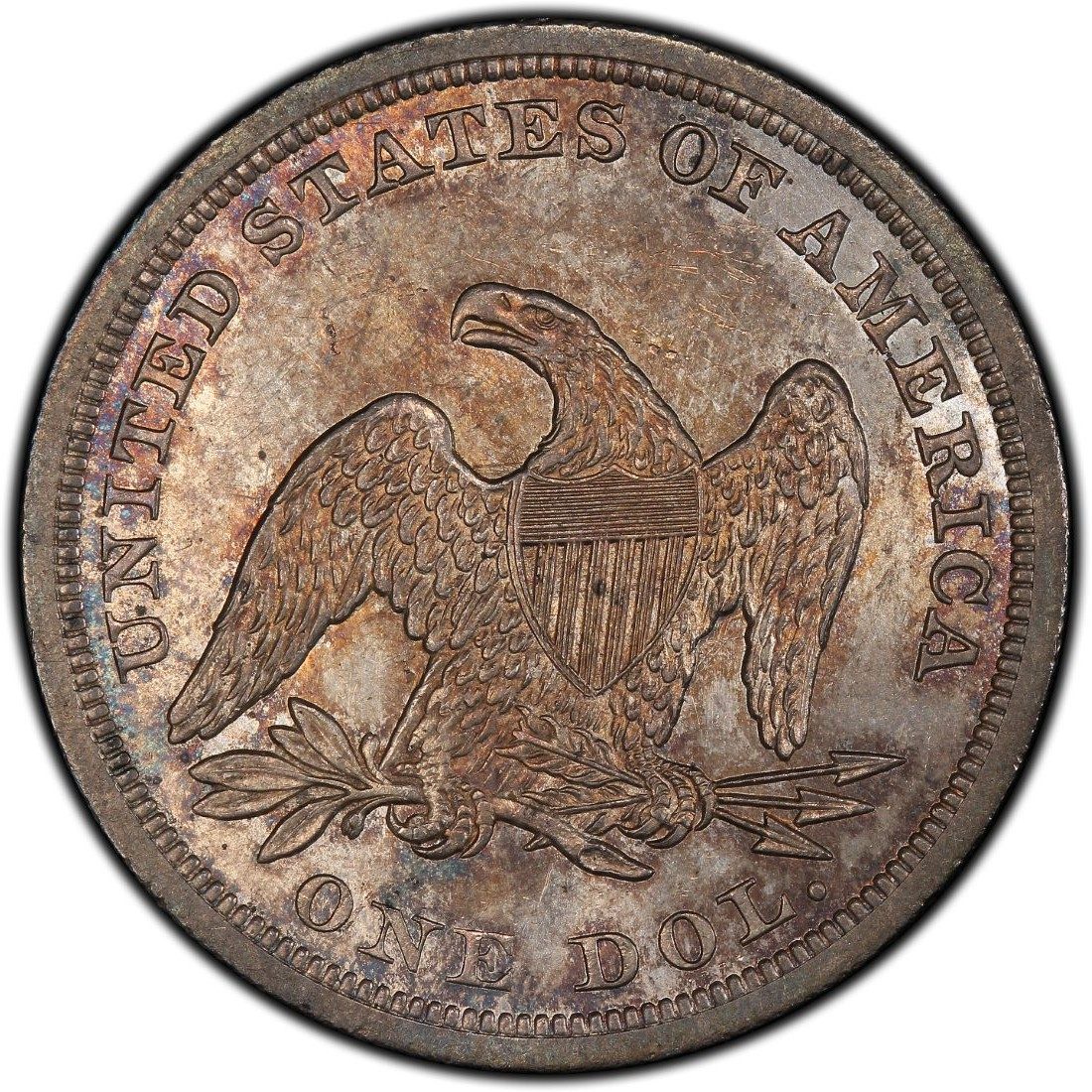 1844 Seated Liberty Silver Dollar Values And Prices Past