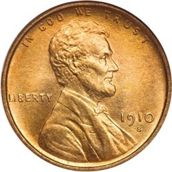 1910 Lincoln Wheat Pennies Values and Prices - Past Sales