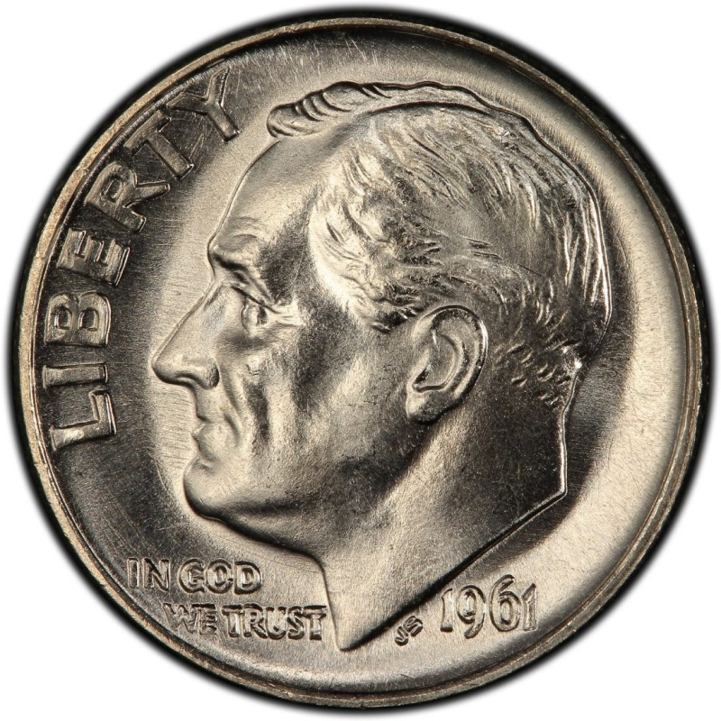 1961 Roosevelt Dime Values And Prices Past Sales