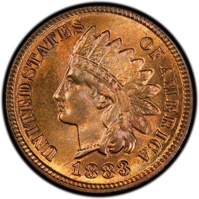 1883 Indian Head Pennies Values And Prices Past Sales