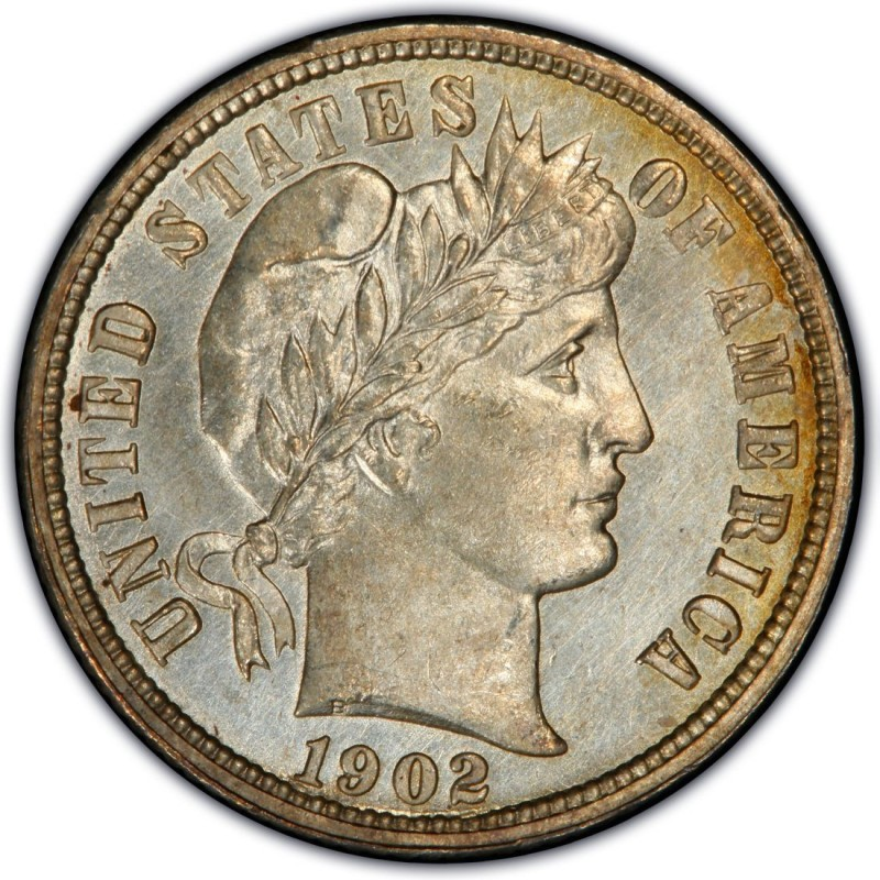 1902 Barber Dime Values And Prices Past Sales