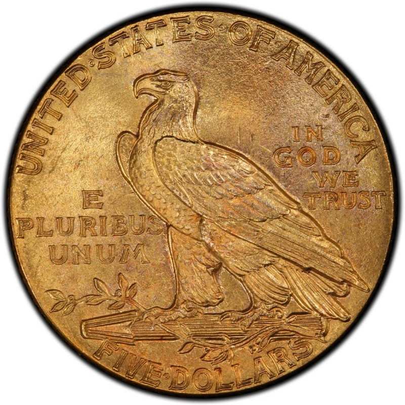 1912 Indian Head $5 Half Eagle Values and Prices - Past Sales