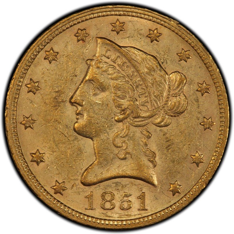1851 Liberty Head 10 Gold Eagle Values And Prices Past