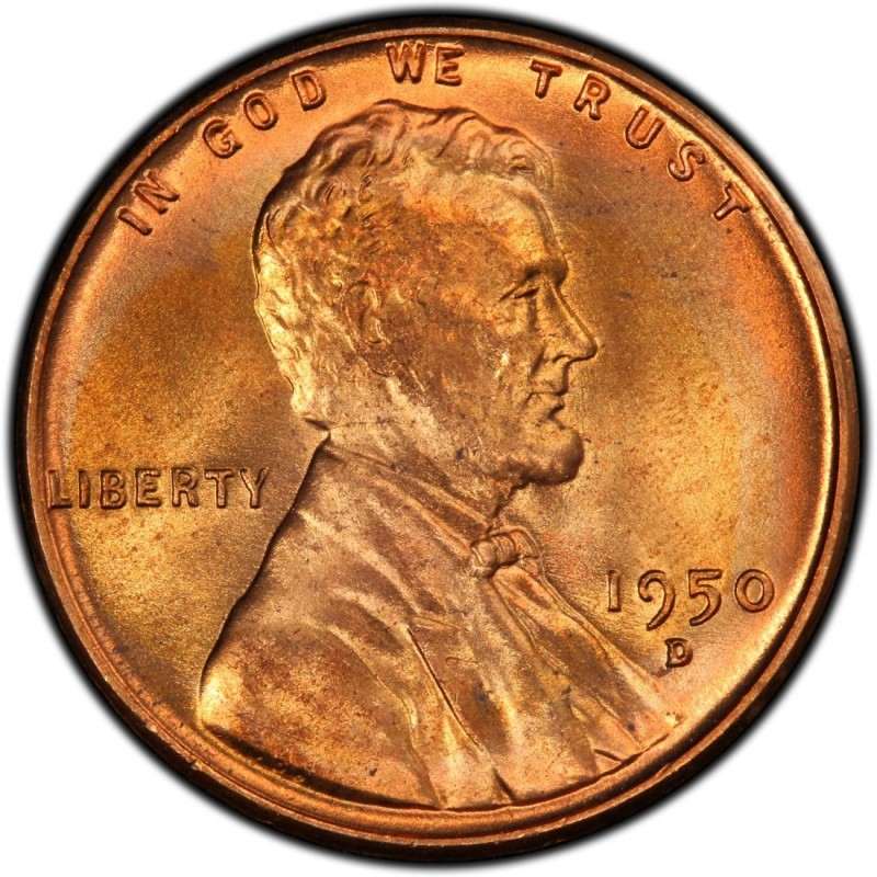 1950 Lincoln Wheat Pennies Values and Prices - Past Sales