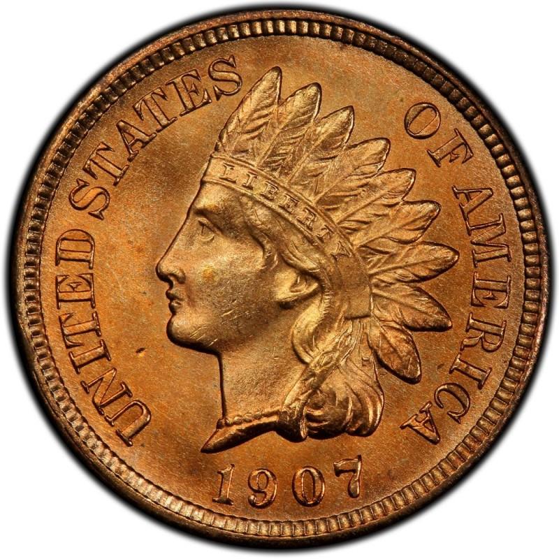 1907 Indian Head Penny Proof Like