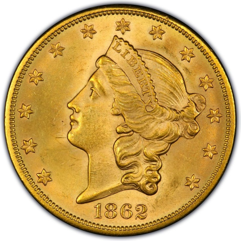 1862 Liberty Head Double Eagle Values And Prices Past