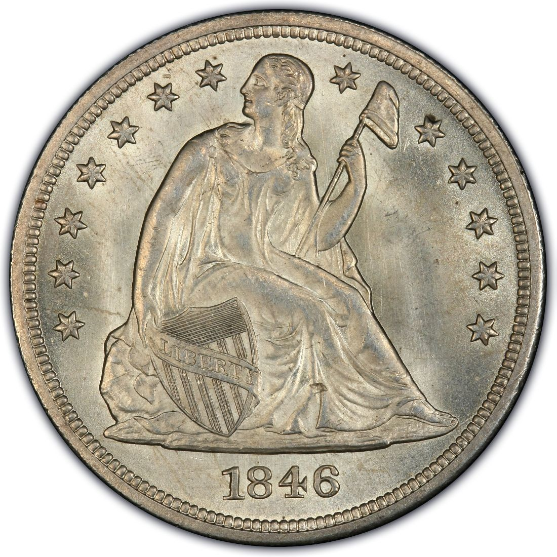 1846 Seated Liberty Silver Dollar Values And Prices Past