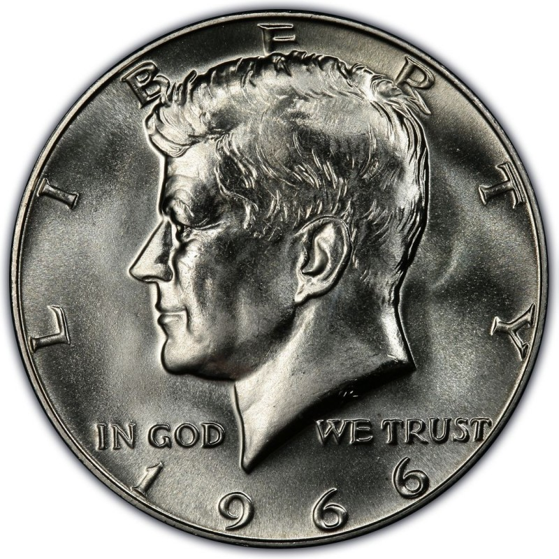 1966 Kennedy Half Dollar Values and Prices - Past Sales
