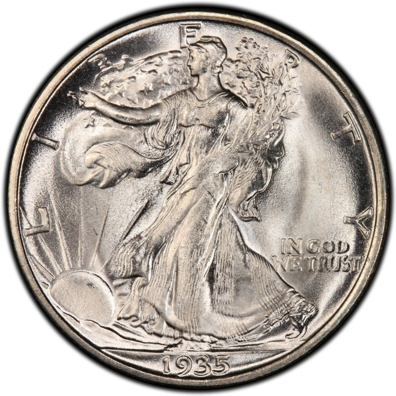 1935 Walking Liberty Half Dollar Values And Prices Past