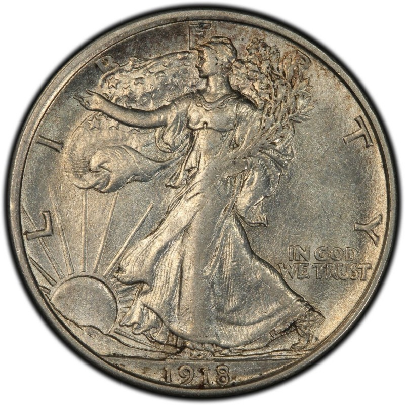 1918 Walking Liberty Half Dollar Values And Prices Past