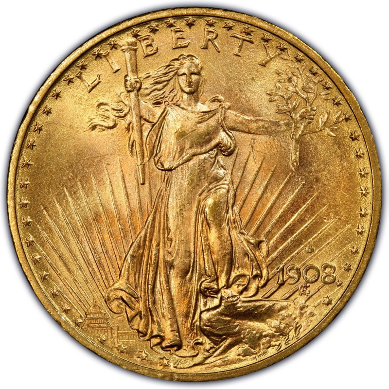 1908 Saint Gaudens Double Eagle Values And Prices Past