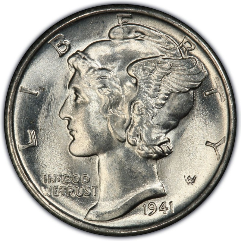1941 Mercury Dime Values And Prices Past Sales