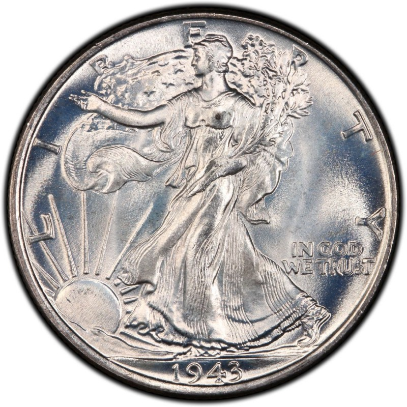 1943 walking liberty half dollar values and prices past sales