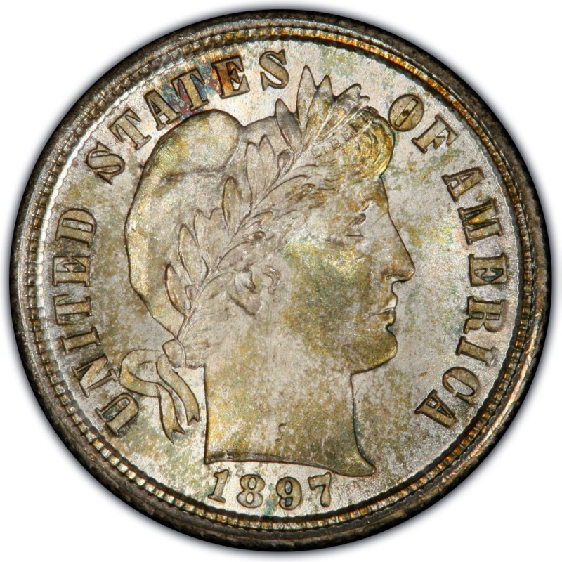 1897 Barber Dime Values And Prices Past Sales
