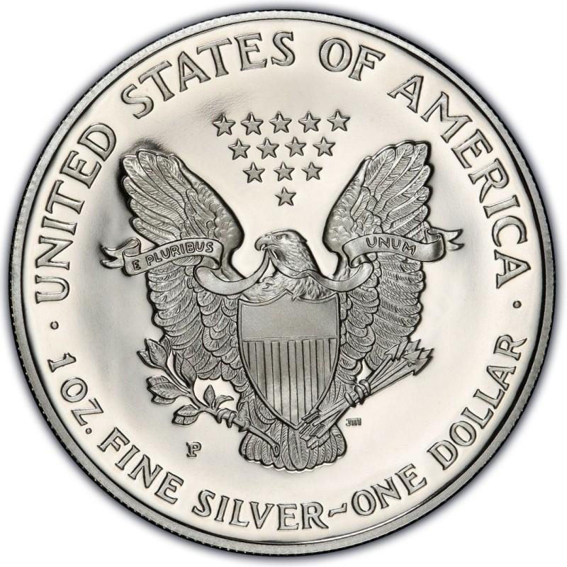 1996 P American 1 oz Silver Eagle Dollar Proof US Mint