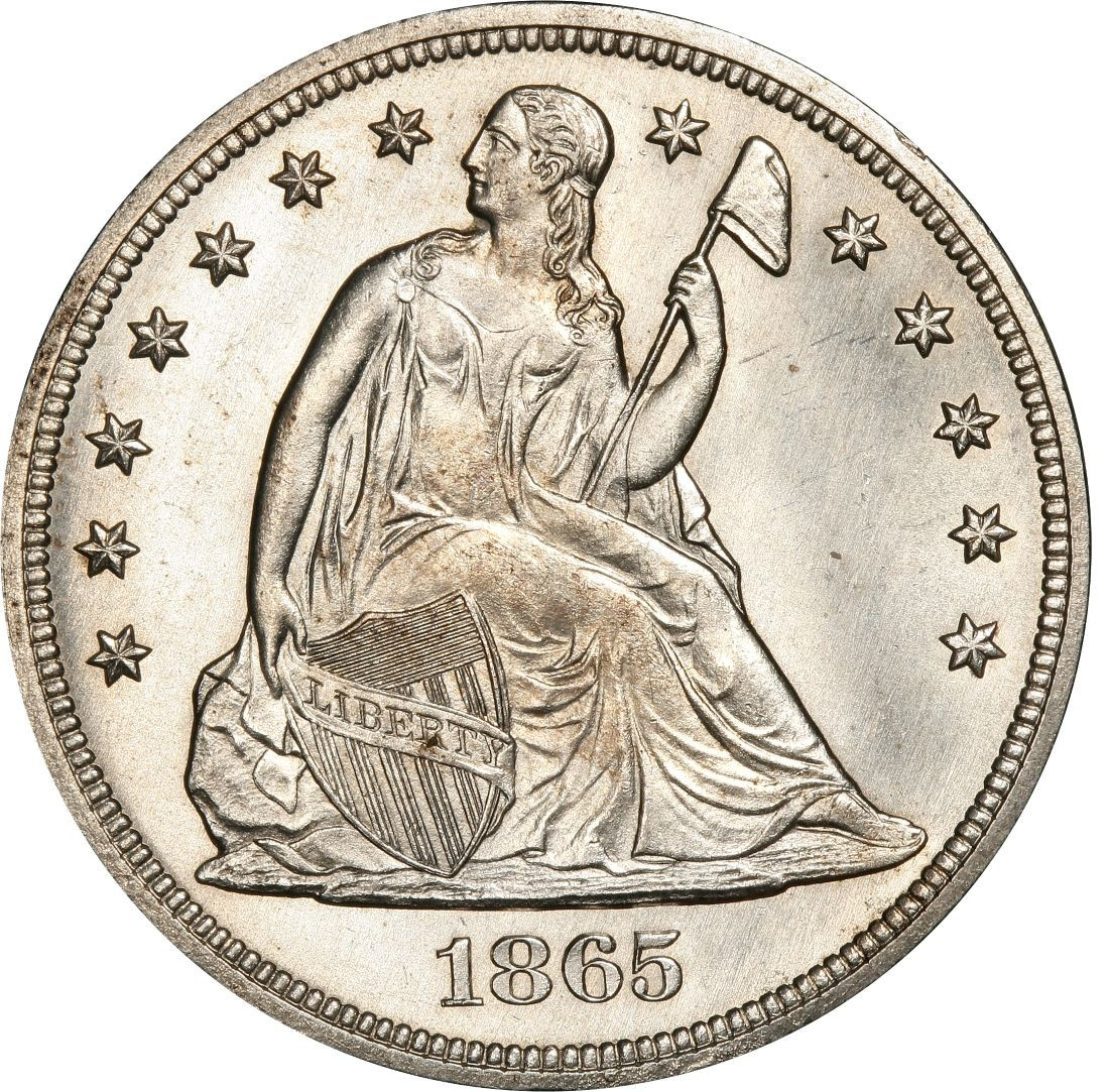 1865 Seated Liberty Silver Dollar Values And Prices Past