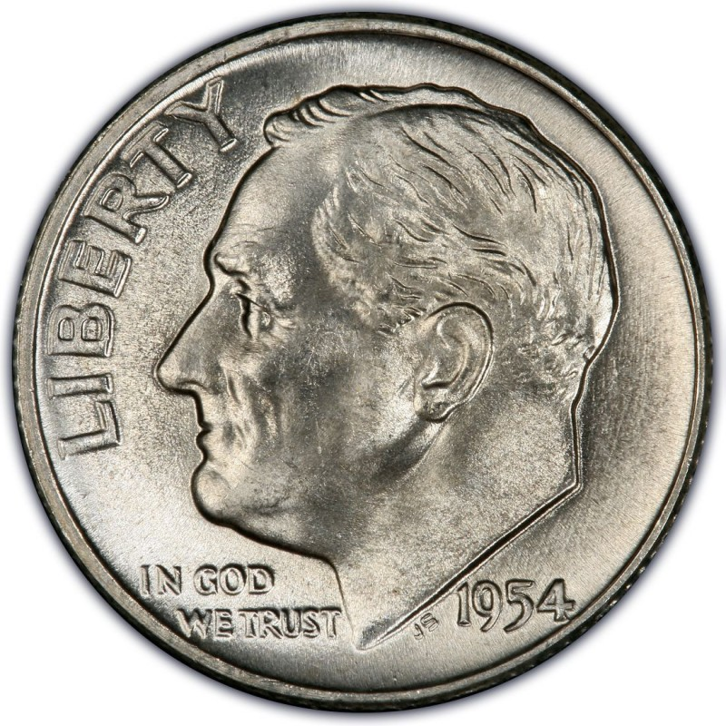 1954 Roosevelt Dime Values And Prices Past Sales