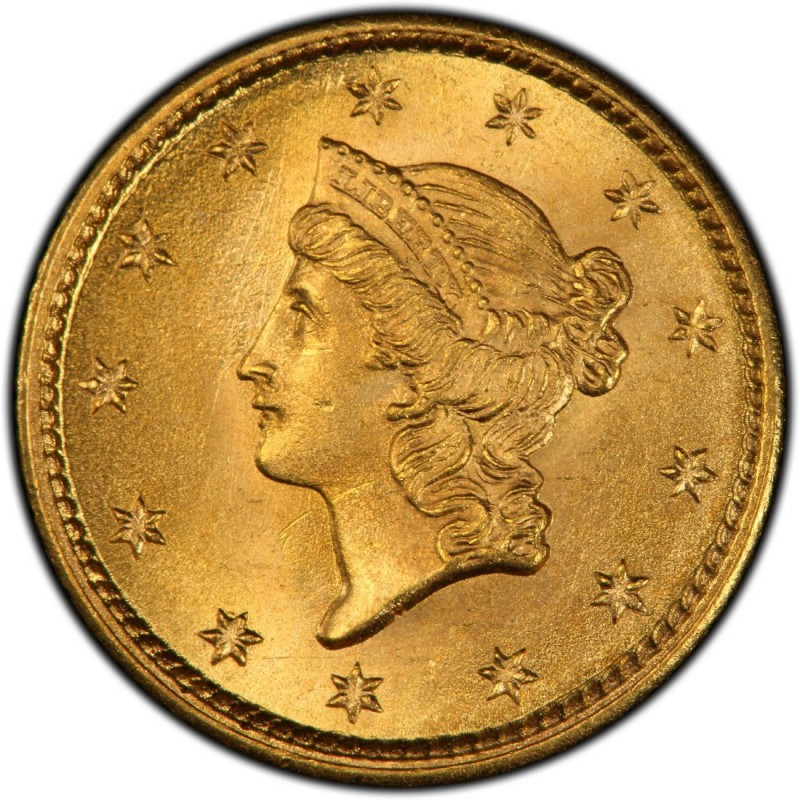 1853 Liberty Head Gold 1 Coin
