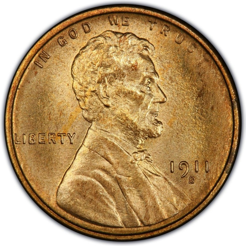 1911 lincoln wheat pennies values and prices past sales