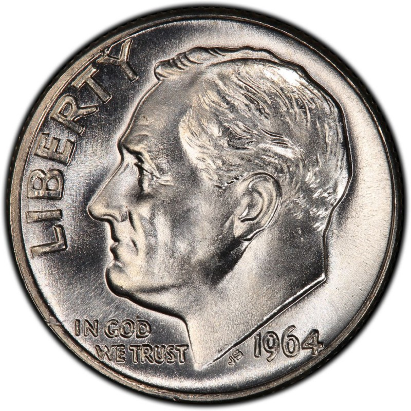 1964 Roosevelt Dime Values And Prices Past Sales