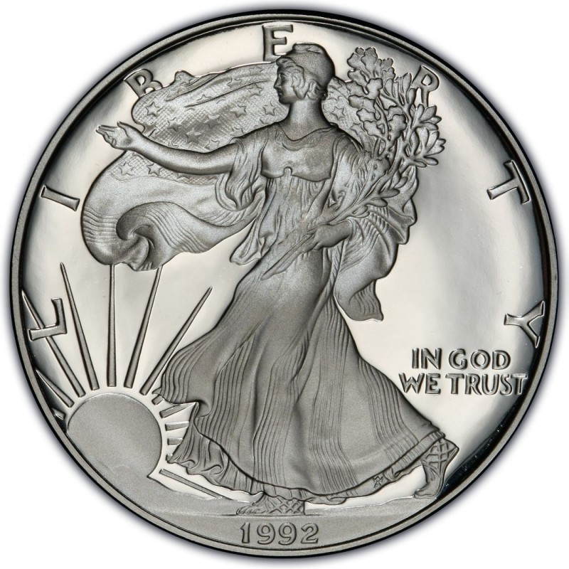 1992 American Silver Eagle Values And Prices Coinvalues Com