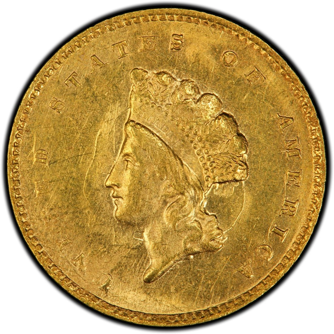 1855 Small Head Indian Princess Gold Dollar Values And