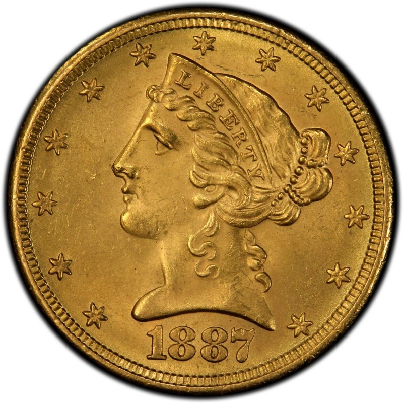 1887 Liberty Head Half Eagles Values And Prices Past
