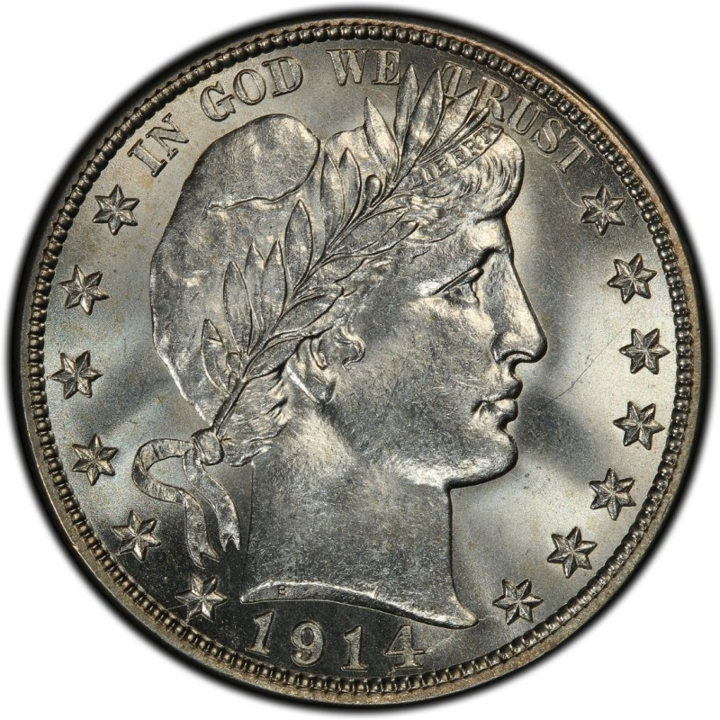 1914 Barber Half Dollar Values And Prices Past Sales
